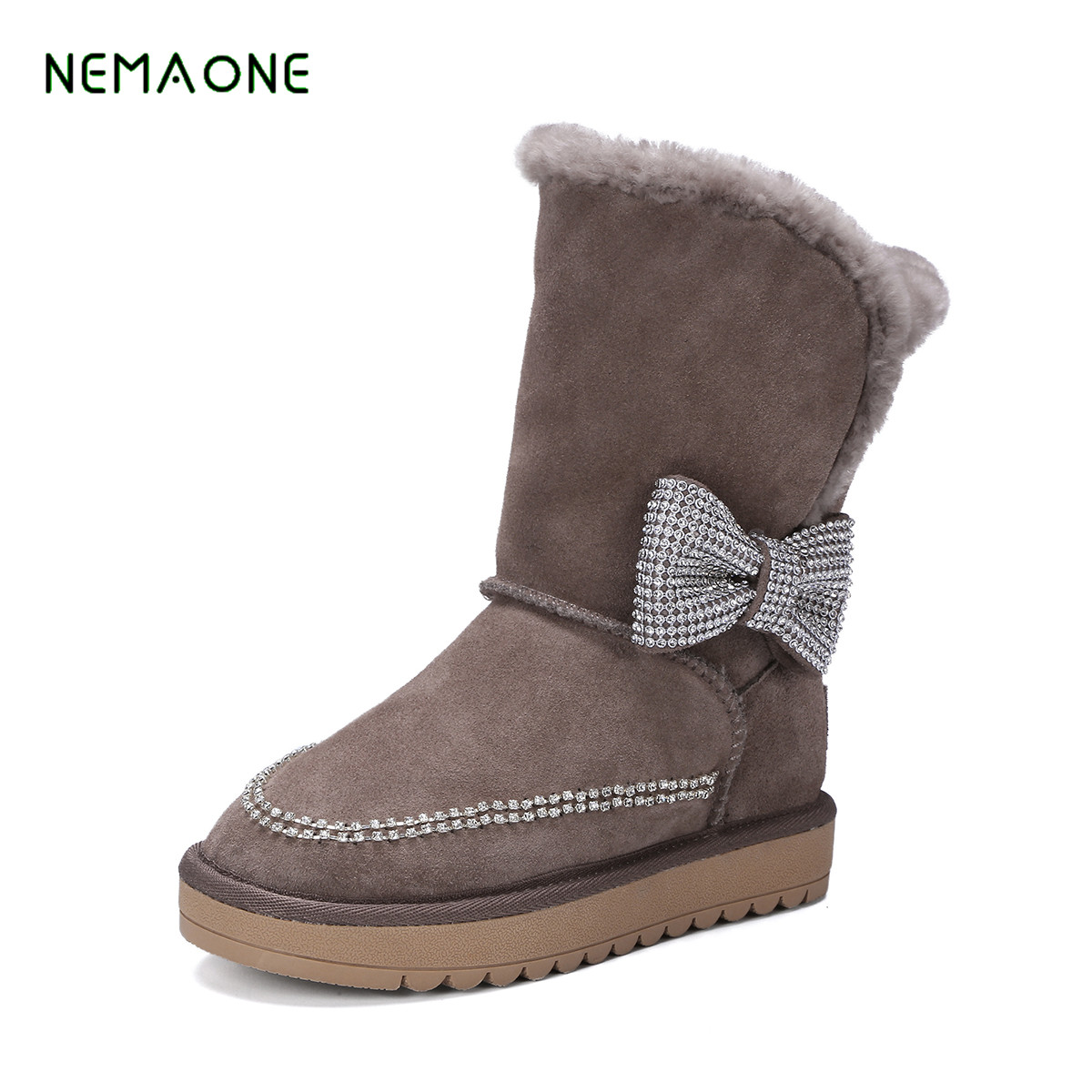 NEMAONE shoes font b boots b font leisure warm winter font b boots b font whom