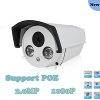 POE 2mp IP Camera Full HD 1080P Support Onvif Network Security Waterproof Indoor Outdoor Survillance Camera