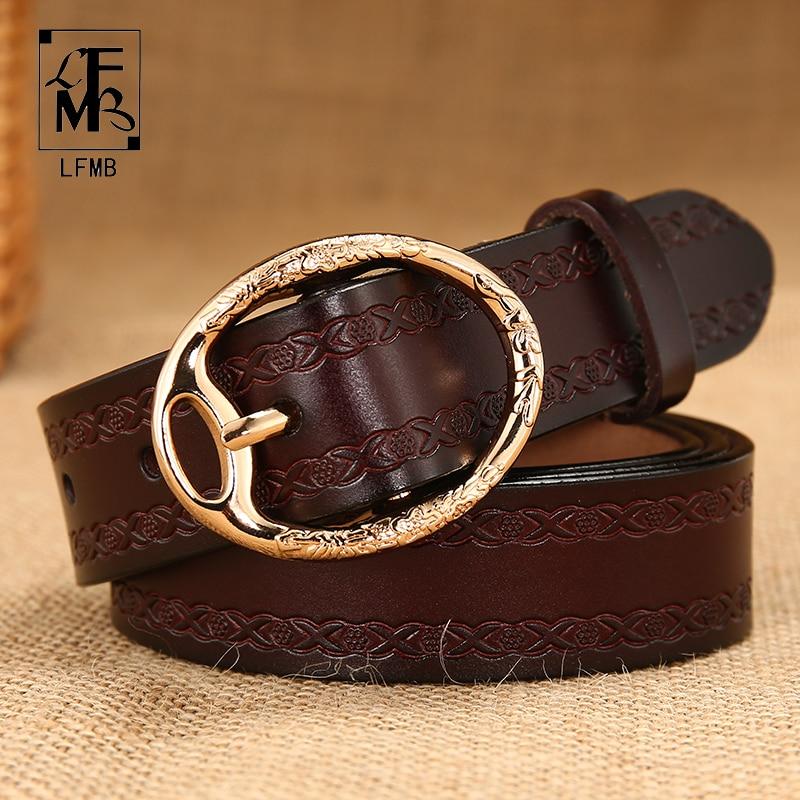 [LFMB]Women   belt   genuine leather fashion waist strap   belt   women's cowhide casual pants top pin buckl   belt   Free shipping
