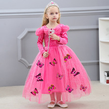 2019 New Kids Carnival Clothing Childrens Halloween Cinderella Cosplay Costume  Girl Anna Elsa Princess Dress Age 3-12 Year