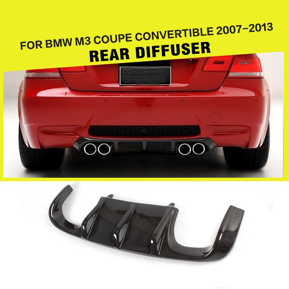 Carbon Fiber / FRP Black Car Rear Bumper Guard Lip Diffuser Spoiler for BMW 3 Series 325i 328i 330i E92 M3 Only 2007 - 2013 image