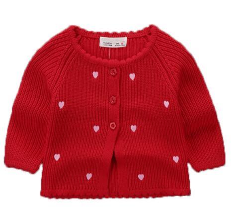 Baby Mädchen Pullover Mantel Frühjahr Und Herbst 0-2 Jahre Alt Lässige Wilde Baumwolle Baby Mädchen Winter Stricken Strickjacke Einfach Und Leicht Zu Handhaben