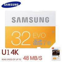 SAMSUNG SD Card 16G 32G 64G 48M S C10 UHS I EVO Memory Card Class 10