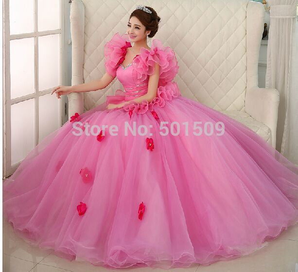 butterfly sleeve pink ruffles medieval dress Renaissance Gown ...