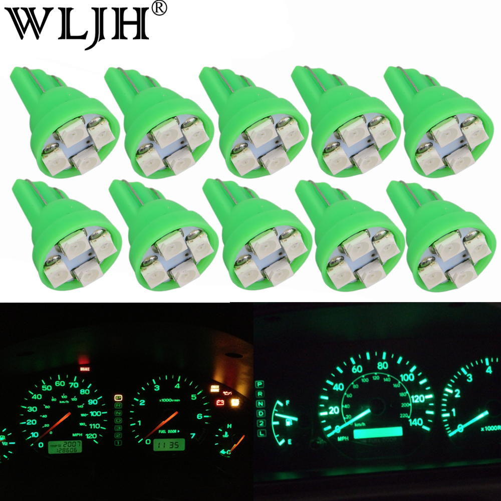 WLJH Green T10 W5W SMD Led Indicator Dashboard Instrument