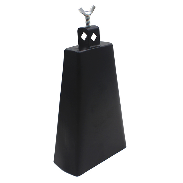 IRIN Black 8 Inch Metal Steel Cattlebell Cowbell Personalized Brass Cattle Cow Bell Percussion Instruments