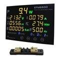 EPM6600 20A/6 кВт однофазный AC Ватт метр цифровой кВт-ч метр анализатор мощности/с многоцветным светодиодным дисплеером