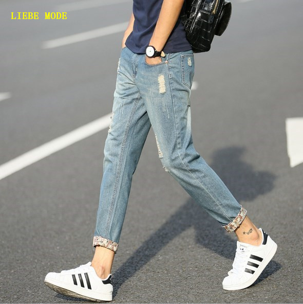 615839a277a 2017 Mens Ripped Ankle Jean Slim Homme Skinny Jeans Male Japanese Style  Fashion Brand Plus Size Jean Hombre Spring Summer Autumn-in Jeans from  Men s ...