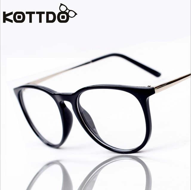 f9d8f35ec3448 placeholder Kottdo Óculos Moda Retro Das Mulheres Dos Homens Do Metal Do  Vintage Transparente Óptico Óculos de