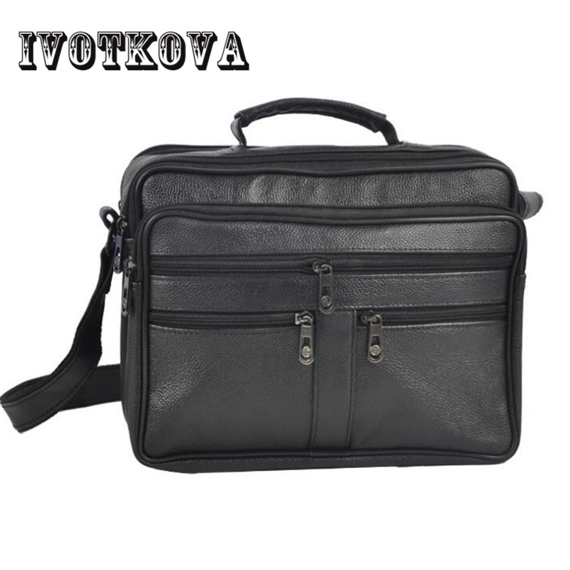 IVOTKOVA Business Men PU Leather Bag Natural Men Messenger Bags Vintage Men's Shoulder Crossbody Bag автор не указан трактат между россиею и франциею о дружбе торговле и мореплавании