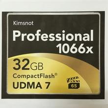 Kimsnot Professionelle Cf-karte 16 GB 32 GB 64 GB 128 GB 256 GB Speicherkarte Compact Flash 1066x Hohe geschwindigkeit 160 Mb/s UDMA 7