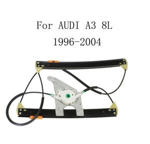 Электрический автомобильный оконный регулятор, для AUDI A3 8L 1996-2004, стеклоподъемник, замена, передняя и правая 8L3837462
