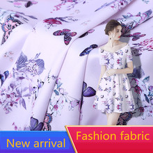 2019 New Arrival Wholesale (1 meter/lot) Summer Soft Silk Chiffon Fabric Butterfly for Making Women Dress Width 160cm Hot Sell