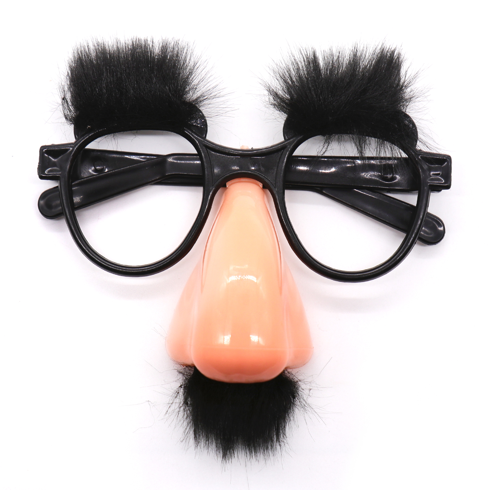 Halloween Fake Mask Cute Black Big Nose Funny Glasses Mustache Eyebrow For Halloween Party Decor Clown Costume Props
