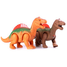 1PCS Electronic Walking Robot Dinosaur Model Light Up Luminous Dinosaur Kids Toy Gift(China)