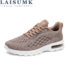 LAISUMK Summer Mens Shoes Breathable Leather Mesh Casual Men Luxury Brand Fashion Footwear Spring Autumn Sneakers