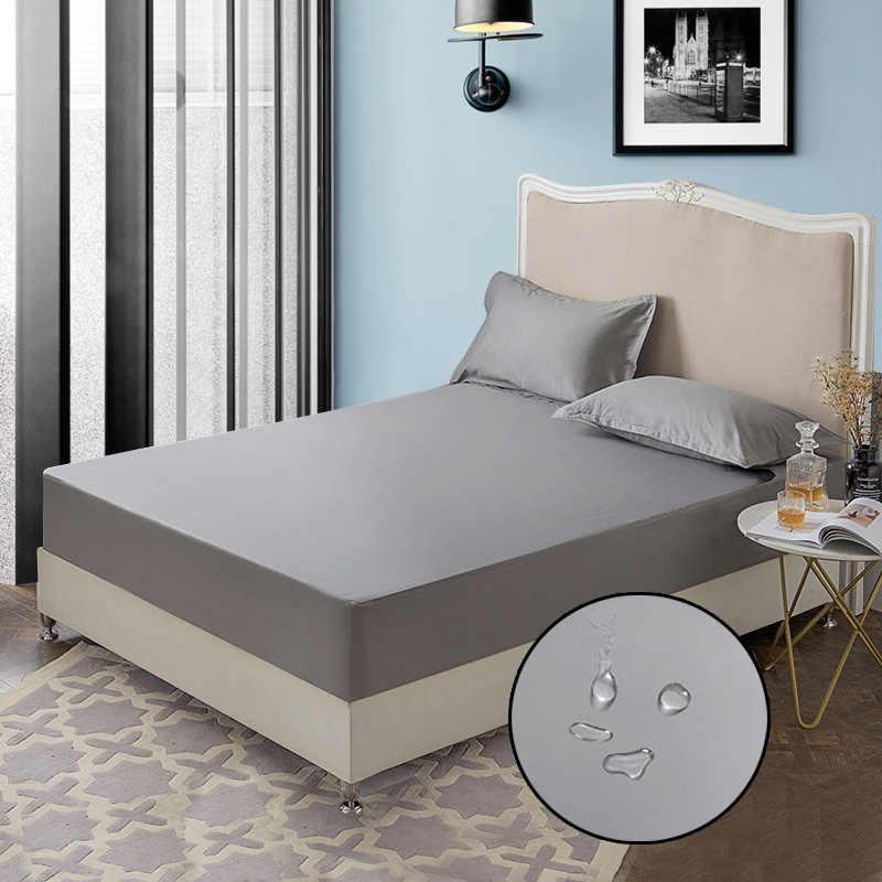 Водонепроницаемое покрытие матраса из хлопка с четырьмя углами с эластичной лентой Матрас протектор для влага в кровати анти-клещи 1 шт.