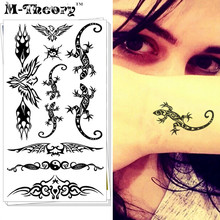 M-Theory Sexy Lizard Choker Body Makeup Temporary 3d Tattoos Sticker Henna Flash Tatoos Tatouage Body Art Tatto Tatuagem Sticker