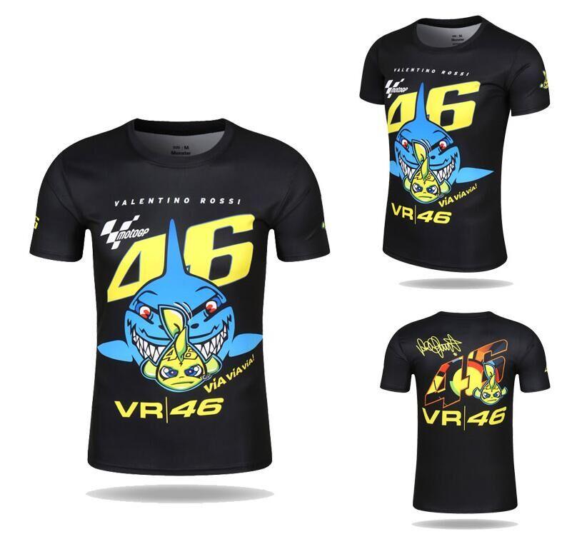 Il trasporto libero 2017 NUOVO Valentino Rossi VR46 Il Medico Moto Gp Ad asciugatura rapida T-Shirt in Jersey