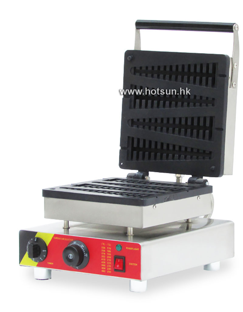 Commercial Non-stick 110V 220V Electric 4pcs Lolly Waffle on A Stick Baker Maker Iron Machine
