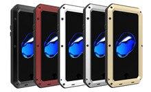 Чехол металлический для iPhone 7 7 плюс Водонепроницаемый противоударный Закаленное гориллы Стекло воды/грязь/шок/непромокаемая телефон Чехол