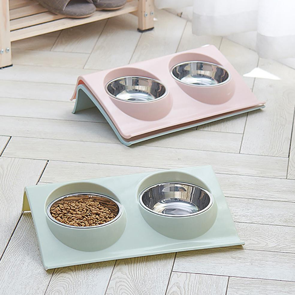 Thicken Pet Food Bowl Stainless Steel Double Pet Bowls Food Water Feeder for Dog Puppy Cats Pets Supplies Feeding Dishes 13