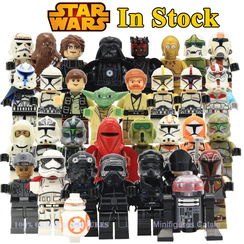 Star Wars The Last Jedi Yoda Obi-Wan Darth Vader Storm Trooper Building Block Compatible with LegoINGlys Star wars Action Figure star wars green bobafeet cloud obi wan jedi knight sith warrior darth maul c3po anakin chewbacca rowan building blocks kids toys