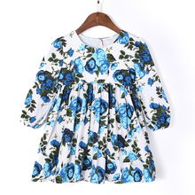Flofallzique Round Neck Autumn Winter Comfortable  Kid Clothes Cute Princess Outdoor Casual Long Sleeve Baby Girls Dress