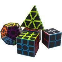 5 stks/set Koolstofvezel Magic Pyraminx, dodecaëder, Axis, 2x2,3x3 Kubus Speed Cubo Puzzel Speelgoed Leren & Educatio Voor Kinderen Gift