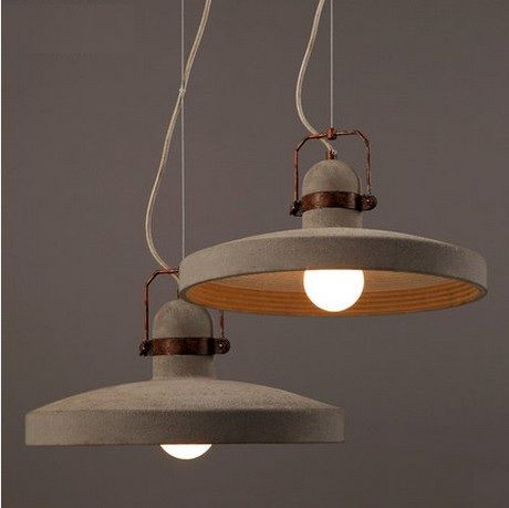Industrial Loft Style Vintage Cement Droplight LED Pendant Light Fixtures For Dining Room Bar Hanging Lamp Indoor Lighting loft style creative cement droplight edison industrial vintage pendant light fixtures for dining room hanging lamp lighting
