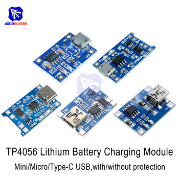 5V 1A TC4056A 18650 Lithium-ion Battery Charger Module Type-C Micro USB Mini USB Adapter Over Charge Discharge Protection Module image