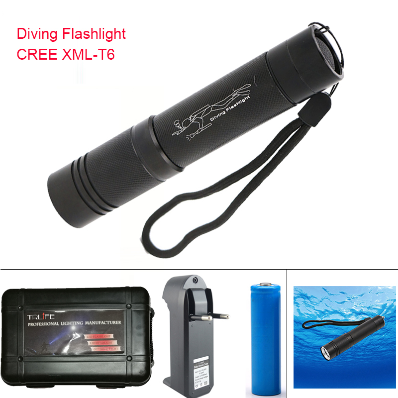 Diving Flashlight waterproof XML-T6 led diving light torch underwater 100m  lanterna led diving flashlight for 18650 battery powerful underwater flashlight led scuba diving lanterna xml l2 waterproof led torch dive light 18650 26650 rechargeable battery