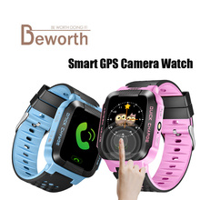 Smart Baby Watch Phone Y21 Q528 GPS Tracker for Kids Safe SOS Call Anti-Lost Camera Lighting Child Smartwatch PK Q100 Q90 Clock