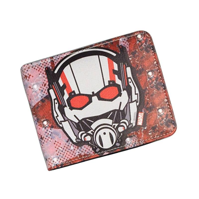 Comics DC Marvel Top Brand Wallet Ant-man Leather Purse Cartoon Anime Bag Men Women Short Wallets 11.5*9 cm billetera hombre