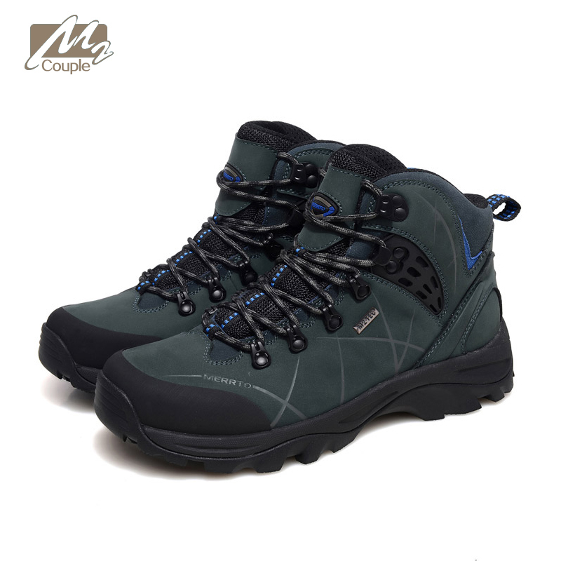 New Couple M2 hiking boots for mens outdoor sport shoes high ankle waterproof and Breathable  sneakers free shipping