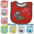 Wholesale 2016 Baby Girl Boy Towel Saliva Waterproof New Kids Animal Cartoon Pattern 3 Layer Toddler Lunch Bibs Burp Cloths