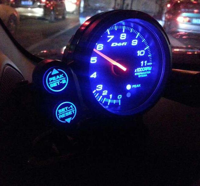 C2 models DEFI meter 3 7 inch 80mm tachometer tachometer car