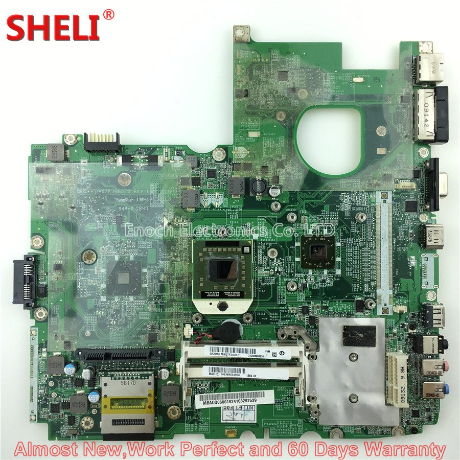 SHELI MBAUQ06001 MB.AUQ06.001 Laptop Motherboard For Acer Aspire 6530 6530G DA0ZK3MB6F0 31ZK3MB0030 FREE CPU Main Board Works laptop motherboard for acer asipre 6530 mbauq06001 da0zk3mb6f0 rev f amd ddr2
