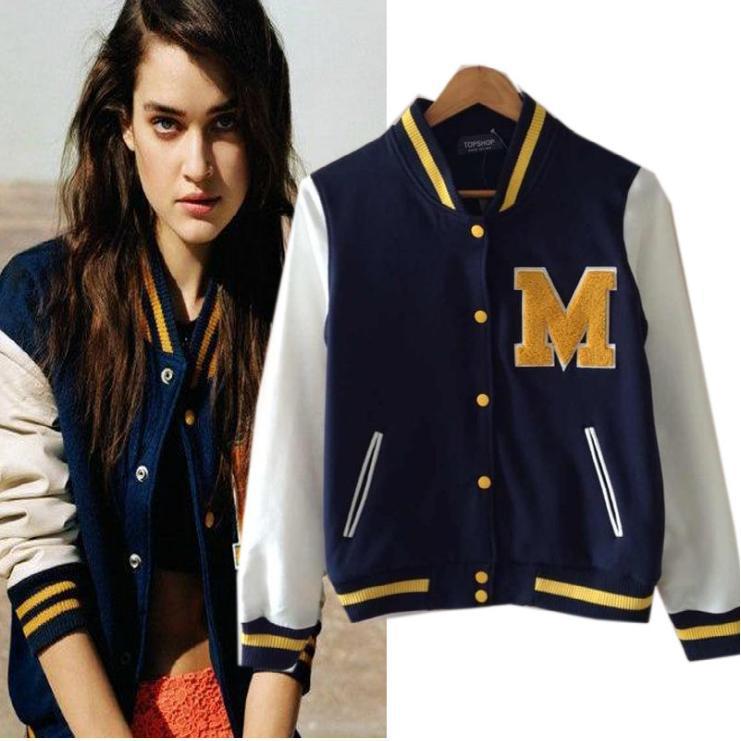 Baseball Bomber Jacket Womens - Pl Jackets