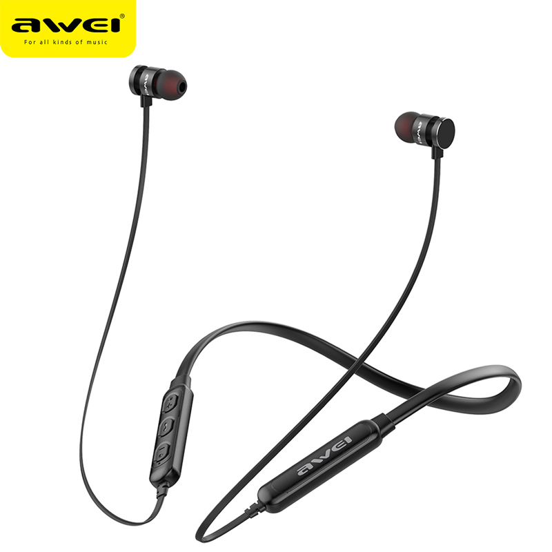 Awei T11s Bluetooth Earphone Headphone Wireless Headset With Mic Neckband 3d Bass Stereo Sport Earbuds For Phone Fone De Ouvido Be Novel In Design
