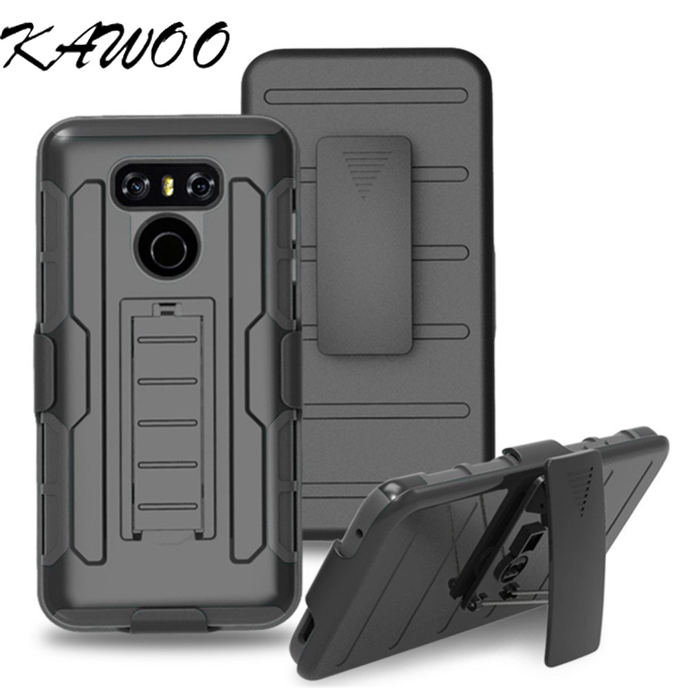 Buy For LG G6 Armor Case With Belt Clip Tough Shockproof Impact Cover sFor LG G6 H870 Heavy Duty Rugged Military Army Armor Coque for only 4.39 USD