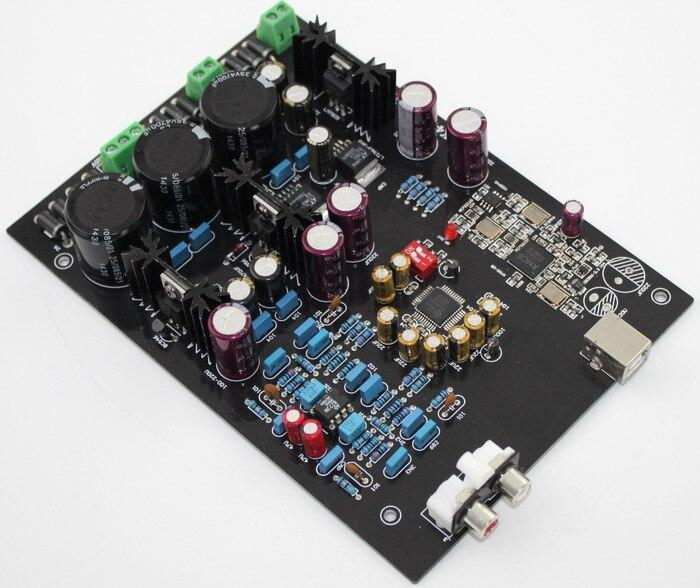 XMOS U8 + AK4495SEQ USB DAC Decoder Board Op Amp AD827 LT1963-3.3