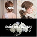 3 pcs The new head flower bridal headdress hair ornaments handmade roses Bob