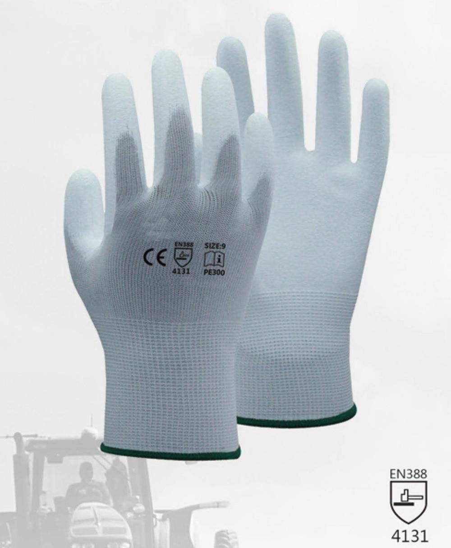 ESD Safety Gloves Anti-static Glove White Nylon Glove With PU Polyurethane Palm Dipped Anti Static Work Glove