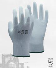 Luvas antiestáticas da segurança do esd luva de náilon preto branco da luva com palma do poliuretano do plutônio mergulhado anti luva estática do trabalho