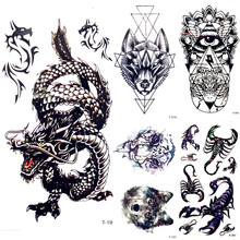 Vente En Gros Tattoo Tribal Dragon Galerie Achetez A Des Lots A