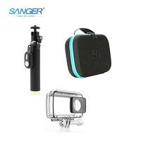 Yi 4K Waterproof Case Self Stick Camera Storage Bag Bluetooth Remote Control 3in1kit For Xiaomi Yi