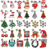 100PCS Lot NEW 2017 Christmas Nail Art Decoration Alloy Jewelry Glitter Strass Rhinestones Slice Stickers Decal