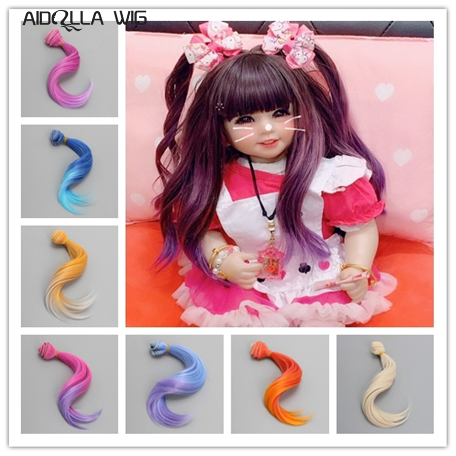 1pc Hair Extensions 15 100cm High temperature Wire Bjd Hair Color Wig for 1 2 1 3 1 4 1 6 1 8 1 12 BJD DIY Doll Wigs in Dolls Accessories from Toys Hobbies
