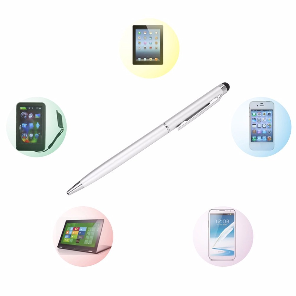 Newest 2 In1 Capacitive Touch Screen Stylus & Ball Point Pen For IPad 2 3 For IPhone 4 4S